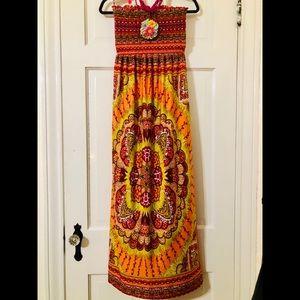 Dresses & Skirts - FESTIVAL BOHO SUN DRESS OR BEACH COVER UP